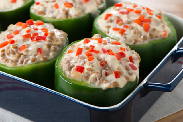 Turkey and Lentil Stuffed Green Peppers Image 1