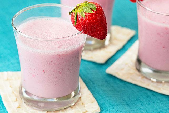 Lait fouetté crémeux aux fraises Image 1