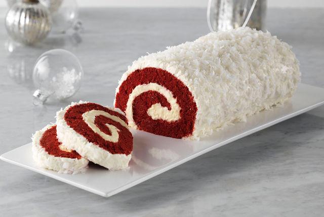 Bûche de Noël au gâteau velours rouge Image 1