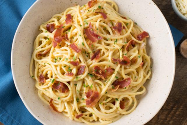 Spaghettis carbonara à la pancetta Image 1