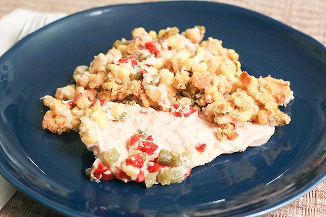 Casserole de pain de maïs et de poulet Image 1