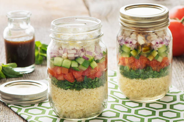 Layered Tabbouleh Salad in a Jar Image 1