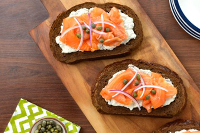 Sandwichs ouverts au saumon fumé Image 1