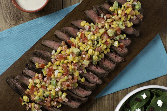 Bifteck de flanc mariné à la ranch et salsa de maïs frais Image 1