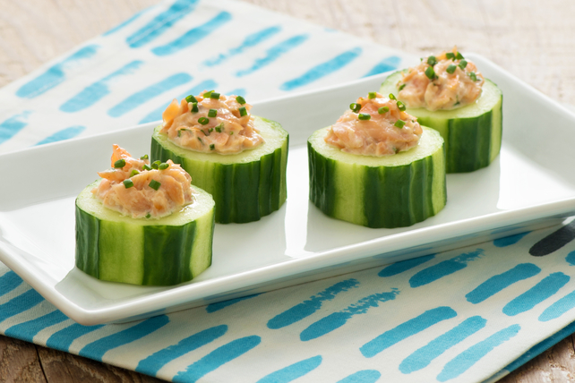 Smoked Trout in Ranch-Cucumber Cups Image 1