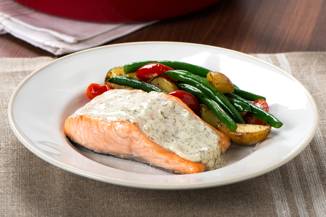 One-Skillet Salmon Dinner Image 1