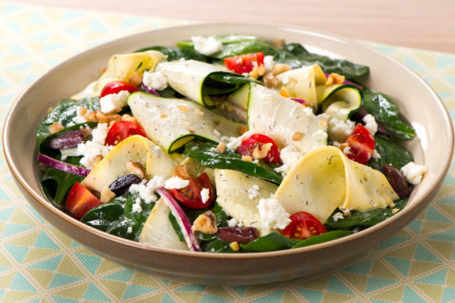 Spinach and Zucchini Ribbon Salad