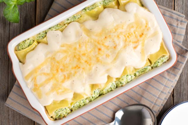 Cannellonis Alfredo aux quatre fromages et au brocoli Image 1