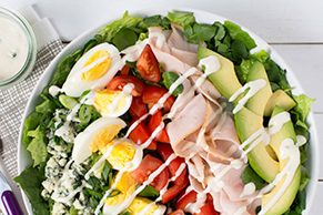 Cobb Salad with Chunky Blue Cheese Dressing