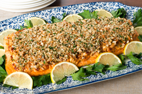 Lemon and Sun-Dried Tomato-Crusted Salmon