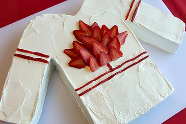 Go Canada Hockey Jersey Cake Image 1