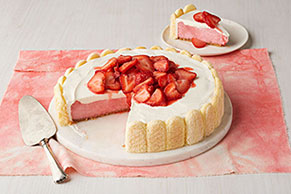 Fresh Strawberry Shortcake Cheesecake