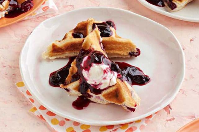 Blueberry-Lemon Cheesecake Waffles Image 1