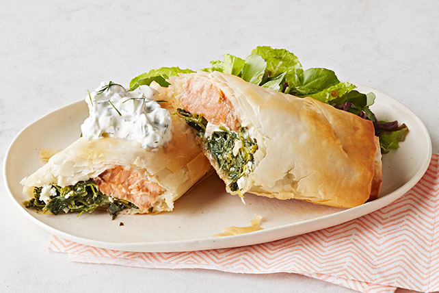 Wrapped Salmon with Spinach & Feta Image 1