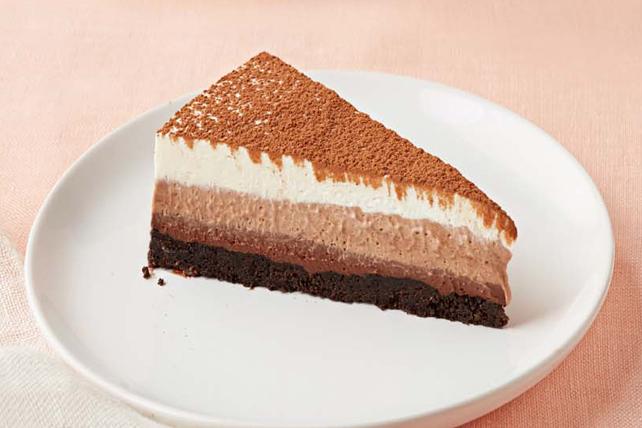 Dessert à la mousse au chocolat à trois étages Image 1