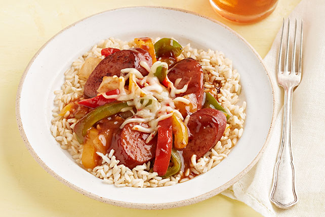 Easy Spicy Sausage & Peppers Image 1
