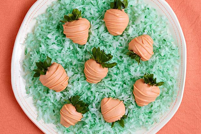 Zanahorias de fresa bañadas en chocolate Image 1