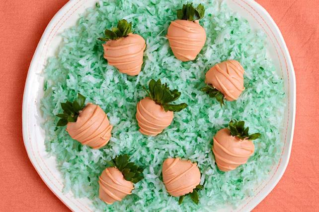 «Fraises-carottes» trempées dans le chocolat Image 1