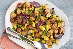 Légumes rôtis au four à la dijonnaise