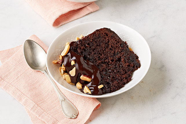 Chocolate-Peanut Butter Slow-Cooker Cake Image 1