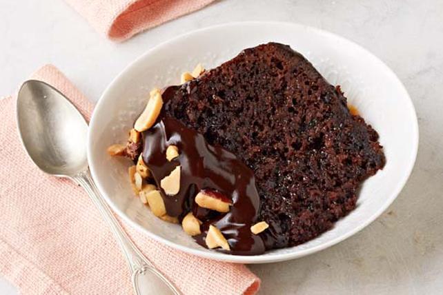 Gâteau au chocolat et au beurre d'arachide, cuit à la mijoteuse Image 1