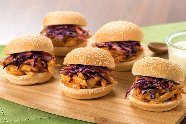 Pulled Chicken and Red Slaw Sliders Image 1