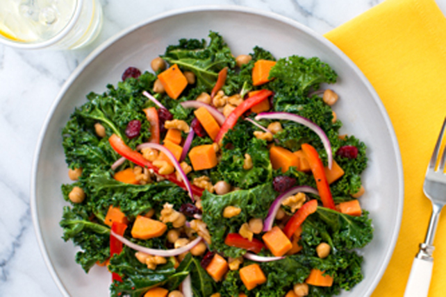Sweet Potato and Chickpea Salad with Kale Image 1