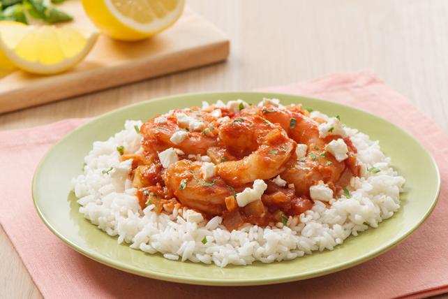 Crevettes à la grecque au fenouil et aux tomates Image 1