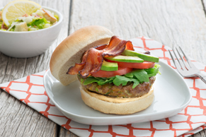 Chipotle-BLT Burger with Avocado