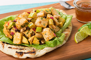 Curry-Chicken Salad on Naan