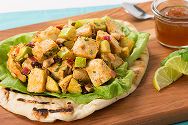 Curry-Chicken Salad on Naan Image 1