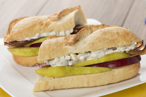 Blue Cheese, Fruit and Bacon Baguette