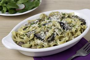Four-Mushroom Caesar Pasta
