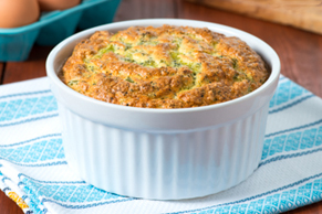 Roasted Garlic and Broccoli Soufflé