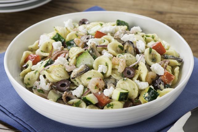 Greek Seafood Medley Pasta Salad Image 1