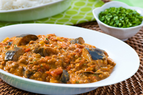 Eggplant and Lentil Curry