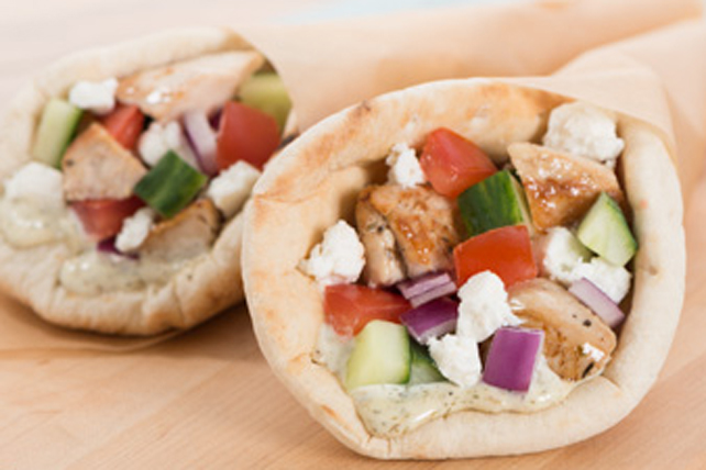 Greek Chicken Donairs Kraft What S Cooking