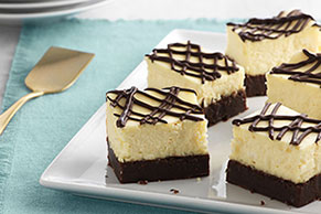 Brownie-Bottom Cheesecake Bars