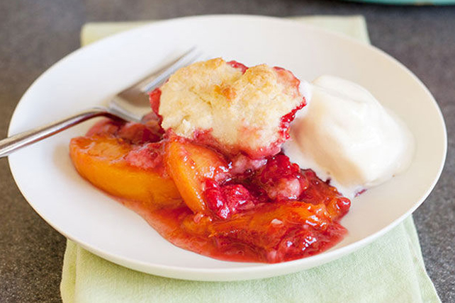 Peach Raspberry Cobbler Image 1