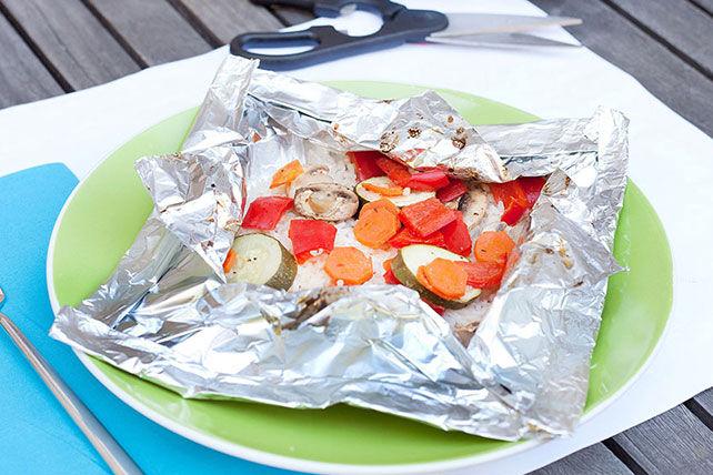 Papillotes de courgettes et de champignons «kébabs» pour le barbecue Image 1