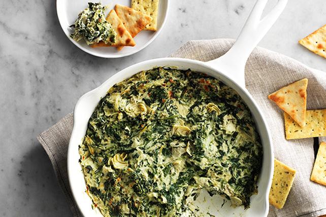 Savory Parmesan Spinach Artichoke Dip