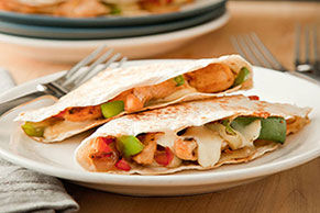 Sizzling Chicken & Cheese Quesadillas