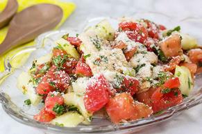 Fattoush-Cucumber Salad