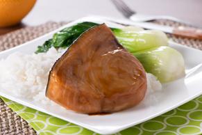 Baked Swordfish with Asian Sesame Dressing