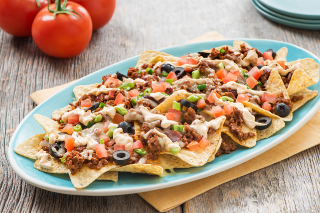 Fully Loaded Nachos with Chipotle Caesar Dressing