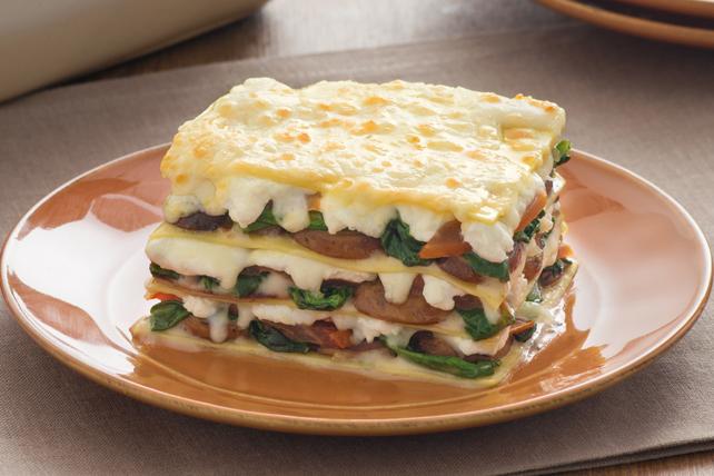 Lasagne aux tomates, aux champignons et aux épinards Image 1