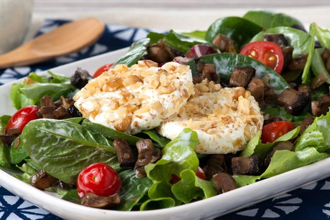 Salade tiède aux champignons et au chèvre Image 1