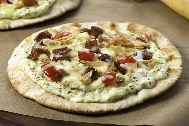 Pizzas sur pita au poulet et aux épinards Image 1