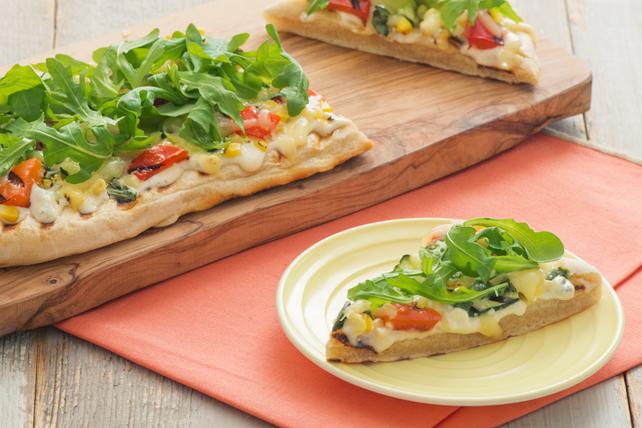 Pizza grillée aux trois fromages Image 1