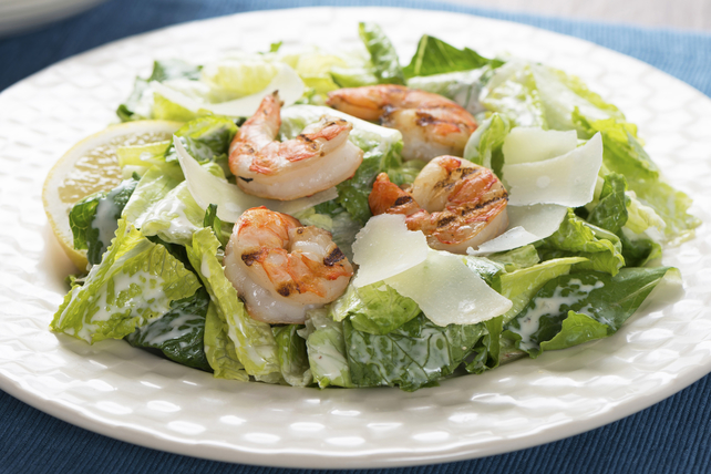 Roasted Garlic Caesar Salad with Shrimp Image 1